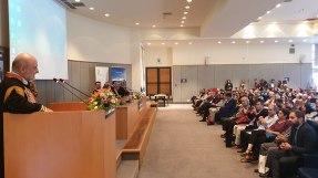 Ο Πρύτανης του Πολυτεχνείου Κρήτης κος Ευάγγελος Διαμαντόπουλος κατά τον σύντομο χαιρετισμό του αναφέρθηκε και στα 30χρονα του Ιδρύματος