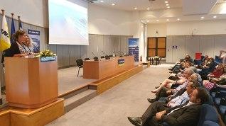 Η Υπεύθυνη Πωλήσεων Εξωτερικού ΑΝΕΚ& SFF και Νόμιμος Εκπρόσωπος του Δ.Σ. του VFF Dagmar Bleile – απευθύνοντας σχετικό χαιρετισμό.